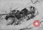 Image of Bodies of dead German soldiers in snow Ambleve Belgium, 1945, second 39 stock footage video 65675071159