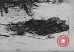 Image of Bodies of dead German soldiers in snow Ambleve Belgium, 1945, second 60 stock footage video 65675071159