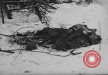 Image of Bodies of dead German soldiers in snow Ambleve Belgium, 1945, second 61 stock footage video 65675071159