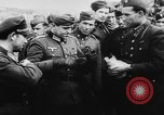 Image of German and Hungarian troops joining forces Ukraine, 1941, second 44 stock footage video 65675071183
