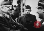 Image of German and Hungarian troops joining forces Ukraine, 1941, second 53 stock footage video 65675071183