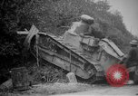 Image of Renault FT tank runs down a street sign Western Front, 1918, second 11 stock footage video 65675071196
