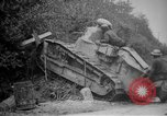 Image of Renault FT tank runs down a street sign Western Front, 1918, second 13 stock footage video 65675071196