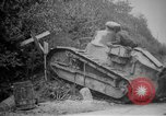 Image of Renault FT tank runs down a street sign Western Front, 1918, second 14 stock footage video 65675071196