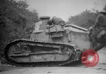 Image of Renault FT tank runs down a street sign Western Front, 1918, second 19 stock footage video 65675071196