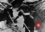 Image of German soldiers in trenches Europe, 1916, second 31 stock footage video 65675071210