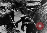Image of German soldiers in trenches Europe, 1916, second 37 stock footage video 65675071210