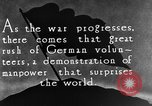 Image of German volunteers drill in World War I Europe, 1916, second 1 stock footage video 65675071211