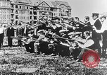Image of German volunteers drill in World War I Europe, 1916, second 37 stock footage video 65675071211