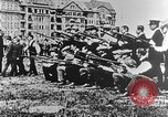 Image of German volunteers drill in World War I Europe, 1916, second 39 stock footage video 65675071211