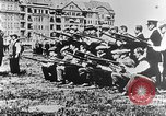 Image of German volunteers drill in World War I Europe, 1916, second 40 stock footage video 65675071211