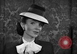 Image of fashion parade New York United States USA, 1944, second 37 stock footage video 65675071248
