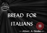 Image of bread supplied to Italian citizens in World War 2 Italy, 1944, second 3 stock footage video 65675071256