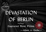 Image of ruins Berlin Germany, 1944, second 3 stock footage video 65675071259