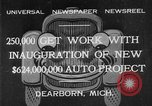 Image of Ford automobile plant expansion during depression Dearborn Michigan USA, 1932, second 2 stock footage video 65675071314