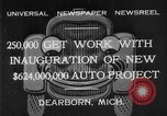 Image of Ford automobile plant expansion during depression Dearborn Michigan USA, 1932, second 7 stock footage video 65675071314