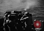 Image of practice firing Iwo Jima, 1945, second 33 stock footage video 65675071339