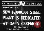 Image of steel plant Ashland Kentucky USA, 1941, second 2 stock footage video 65675071398