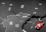 Image of Animated map showing paths of Japanese occupation Hanoi French Indochina, 1940, second 10 stock footage video 65675071426