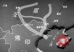 Image of Animated map showing paths of Japanese occupation Hanoi French Indochina, 1940, second 19 stock footage video 65675071426