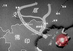 Image of Animated map showing paths of Japanese occupation Hanoi French Indochina, 1940, second 20 stock footage video 65675071426