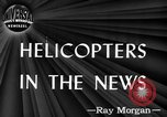 Image of early helicopters United States USA, 1944, second 1 stock footage video 65675071445