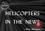 Image of early helicopters United States USA, 1944, second 5 stock footage video 65675071445