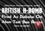 Image of British Hydrogen bomb Christmas Island, 1957, second 16 stock footage video 65675071458