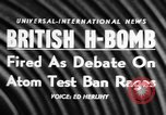 Image of British Hydrogen bomb Christmas Island, 1957, second 17 stock footage video 65675071458