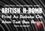 Image of British Hydrogen bomb Christmas Island, 1957, second 18 stock footage video 65675071458