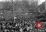 Image of British demonstrate against American involvement in Vietnam London England United Kingdom, 1968, second 10 stock footage video 65675071477