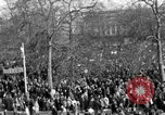 Image of British demonstrate against American involvement in Vietnam London England United Kingdom, 1968, second 20 stock footage video 65675071477