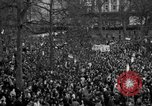 Image of British demonstrate against American involvement in Vietnam London England United Kingdom, 1968, second 53 stock footage video 65675071477