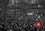 Image of British demonstrate against American involvement in Vietnam London England United Kingdom, 1968, second 55 stock footage video 65675071477