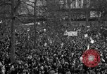 Image of British demonstrate against American involvement in Vietnam London England United Kingdom, 1968, second 56 stock footage video 65675071477
