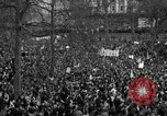 Image of British demonstrate against American involvement in Vietnam London England United Kingdom, 1968, second 59 stock footage video 65675071477
