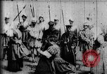Image of fictional recreation of Mary Queen Scots death West Orange New Jersey USA, 1895, second 6 stock footage video 65675071506