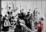 Image of fictional recreation of Mary Queen Scots death West Orange New Jersey USA, 1895, second 7 stock footage video 65675071506