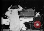 Image of Girls in white night dresses having a pillow fight United States USA, 1893, second 17 stock footage video 65675071525