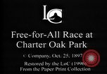 Image of harness pacing race Connecticut USA, 1897, second 4 stock footage video 65675071537