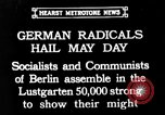 Image of Communists and Nazis clash in demonstrations on May Day in Berlin Berlin Germany, 1932, second 1 stock footage video 65675071549