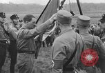 Image of Adolf Hitler in Nazi rally at Zeppelin Field in Nuremberg Germany, 1933, second 9 stock footage video 65675071551