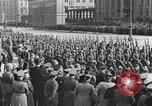 Image of Adolf Hitler in Nazi rally at Zeppelin Field in Nuremberg Germany, 1933, second 38 stock footage video 65675071551