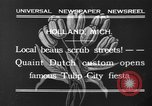 Image of tulip time Holland Michigan USA, 1932, second 2 stock footage video 65675071662