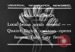 Image of tulip time Holland Michigan USA, 1932, second 3 stock footage video 65675071662