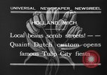 Image of tulip time Holland Michigan USA, 1932, second 11 stock footage video 65675071662