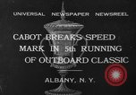 Image of motor boat racing Albany New York USA, 1932, second 2 stock footage video 65675071664
