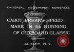 Image of motor boat racing Albany New York USA, 1932, second 7 stock footage video 65675071664