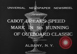 Image of motor boat racing Albany New York USA, 1932, second 9 stock footage video 65675071664
