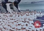 Image of Change of Command ceremony aboard battleship Pacific Theater, 1944, second 4 stock footage video 65675071668